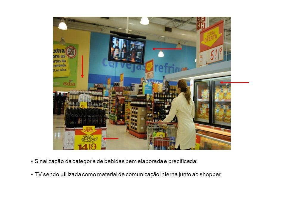 O lay out deve ser bem demarcado para promover a circulação dos consumidores; HiperClubeEletrônicosSupermercado