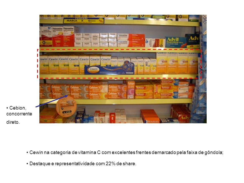 Exemplo de Cross-merchandising, Dermacyd pocket lenço umedecido sendo exposto com clip strip na categoria de absorventes.