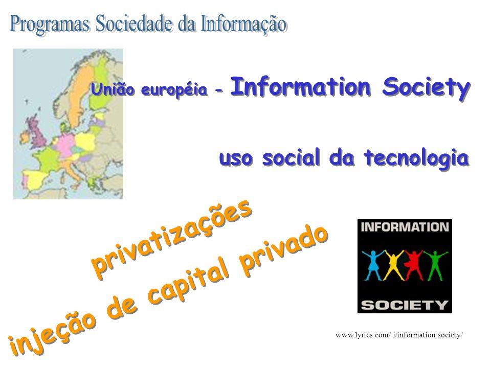 http://www.socinfo.org.br/ http://www.posi.mct.pt/ http://www.psi.gov.ar/ http://europa.eu.int/information_society/index_en.htm iniciativas nacionais