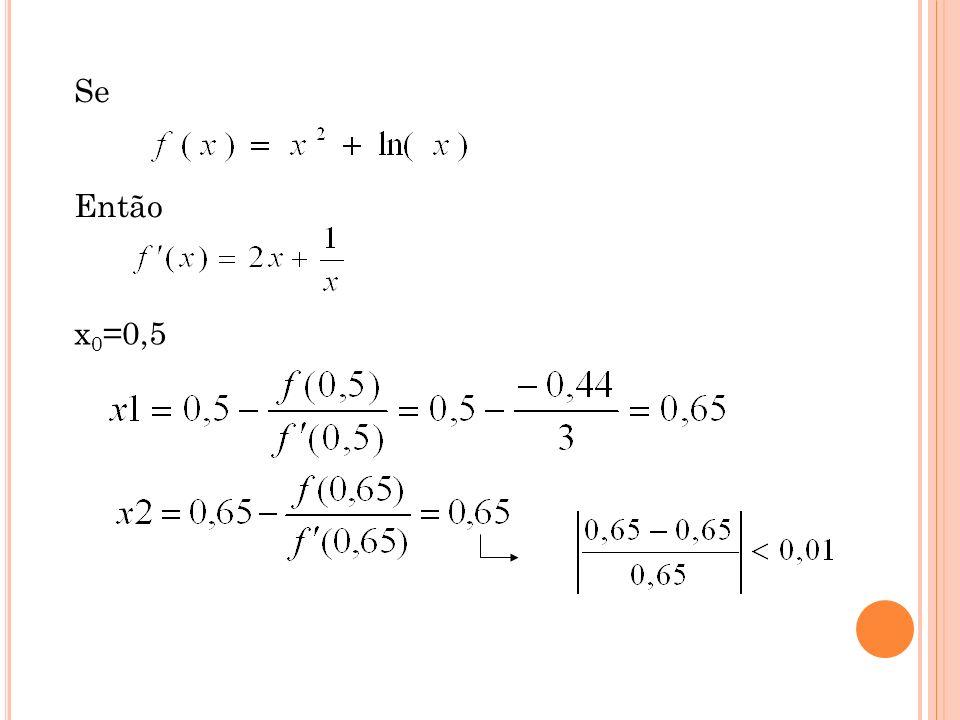 F ASE II: MÉTODO DE N EWTON - R APHSON Vantagens: Simples Rápida convergência Desvantagens: Nem sempre converge Necessidade de se conhecer a derivada da função Muito sensível à estimativa inicial Se a derivada for nula o método falha