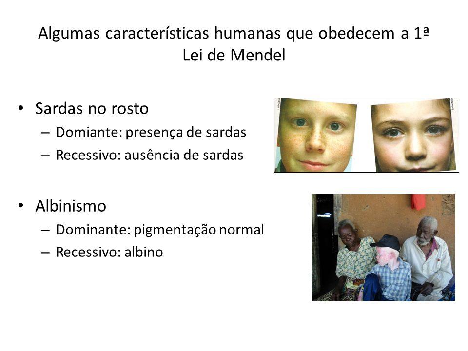 Exercícios Sabendo-se que o albinismo é uma doença recessiva, responda: Uma mulher com pigmentação normal de pele, filha de pai albino, casa-se com homem albino.