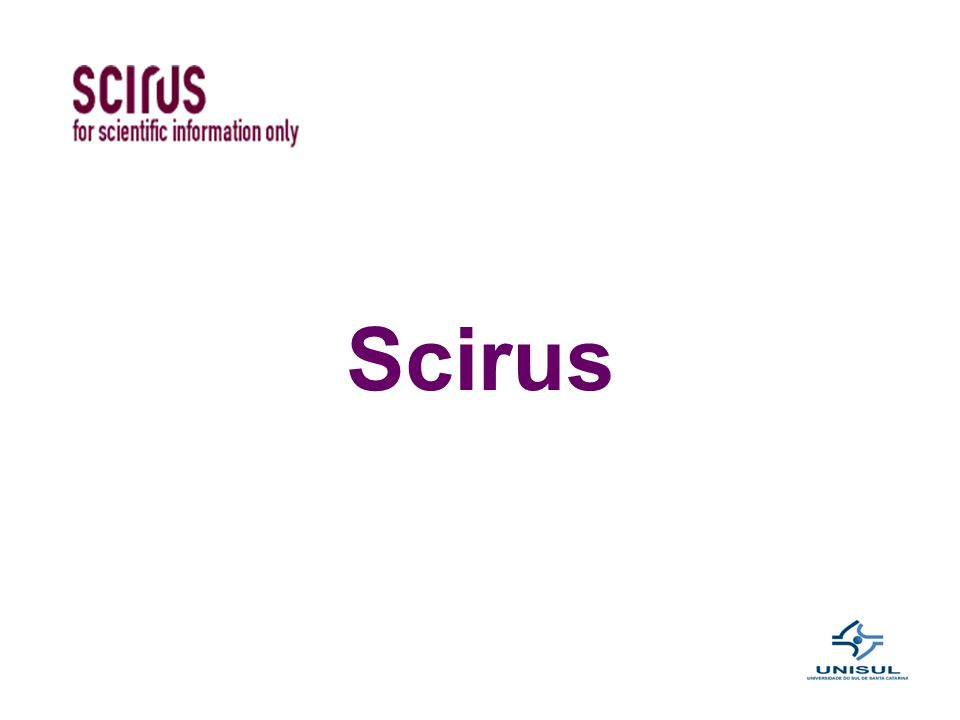 A base de dados multidisciplinar Scirus apresenta documentos em texto completo disponibilizados em repositórios institucionais de diversas universidades, em bibliotecas digitais internacionais de teses e dissertações, em periódicos e em eventos científicos.