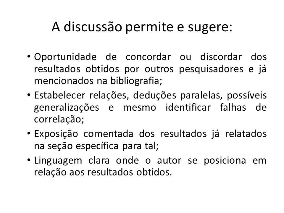 Conclusão É a parte final do trabalho com base nas evidências disponíveis e pertinentes ao objeto de estudo.