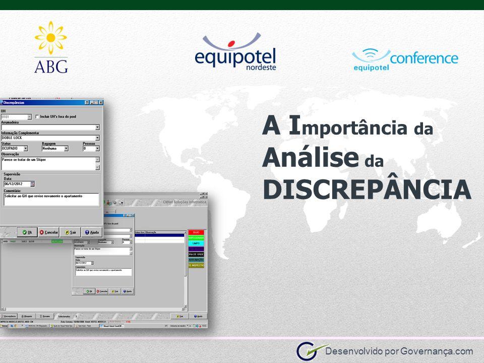 Desenvolvido por Governança.com A I mportância da Análise da DISCREPÂNCIA