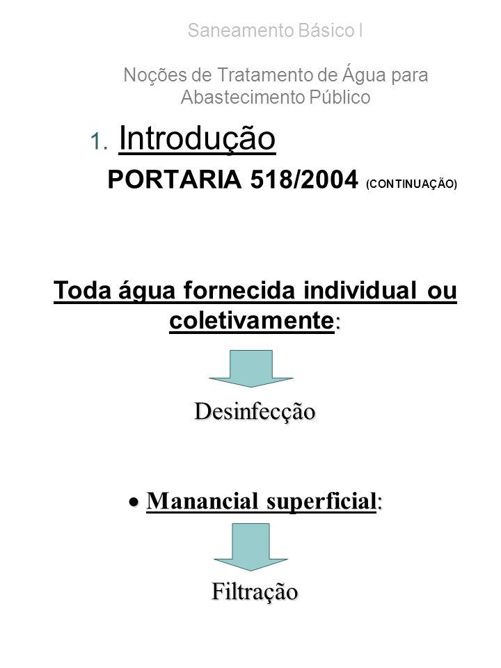 Sistemas de Tratamento de Águas paraSaneamento Básico I Noções de Tratamento de Água para Abastecimento Público 1.