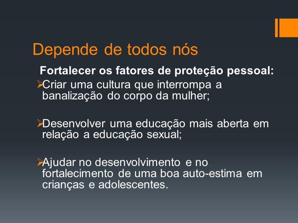 Fortalecer os fatores de proteção social: Qualificar os profissionais para saberem reconhecer a violência sexual (educação, saúde, social).