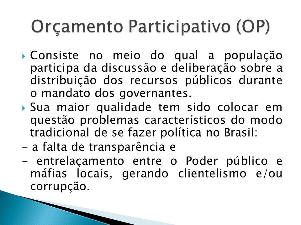 Pode existir uma forte associação entre a agenda do governo e as demandas dos grupos sociais mais importantes no processo de elaboração do OP.