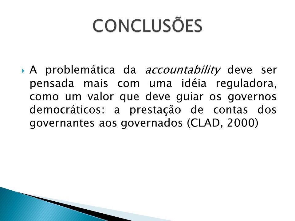 Obstáculos à melhor responsabilização do Poder Público.
