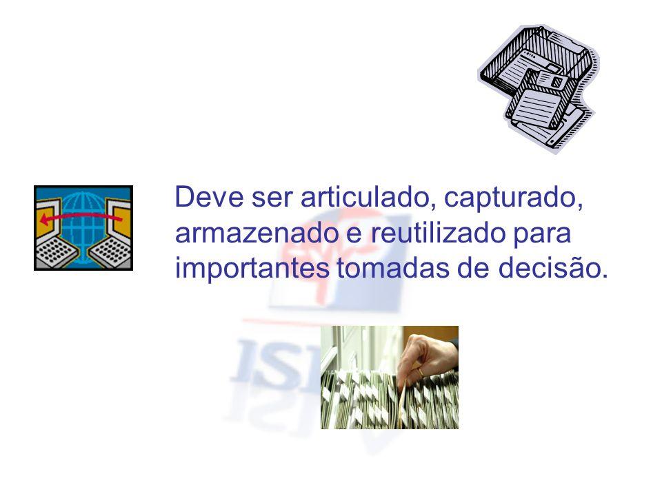 O conhecimento útil tem de ser estabelecido com um sistema que efectue a avaliação e o controlo da informação.