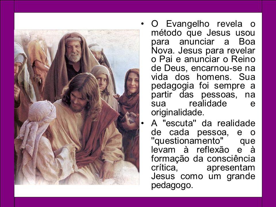 Na sua vida pública Jesus: Apela à conversão, questionando e interpelando as pessoas, porém respeitando a liberdade de cada uma.