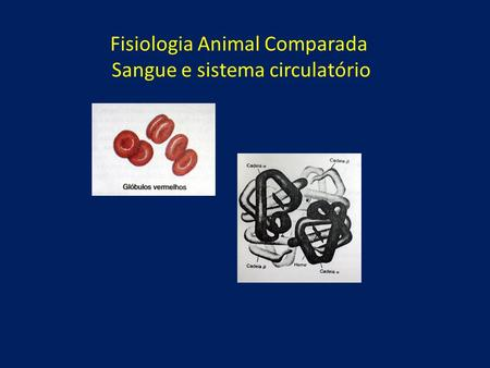 Fisiologia Animal Comparada Sangue e sistema circulatório.