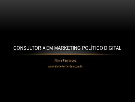 Consultoria em marketing político digital
