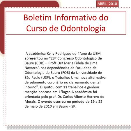 Boletim Informativo do