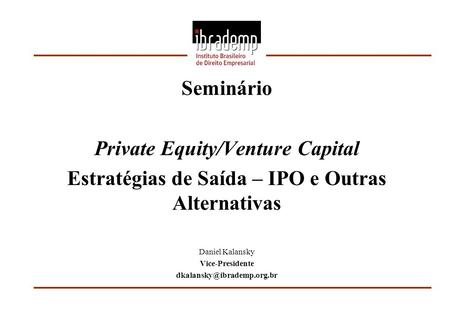 Private Equity/Venture Capital