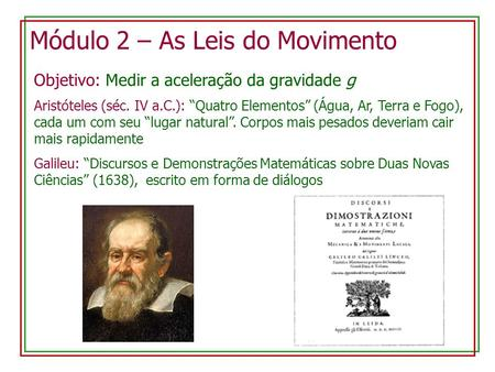 Módulo 2 – As Leis do Movimento