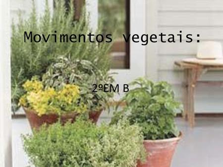 Movimentos vegetais: 2ºEM B.