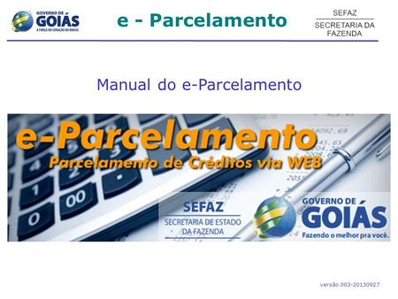 Manual do e-Parcelamento