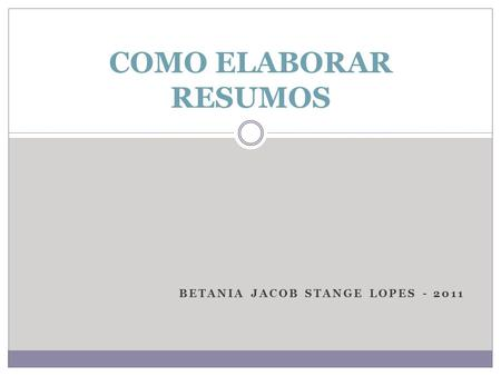 Betania Jacob Stange lopes