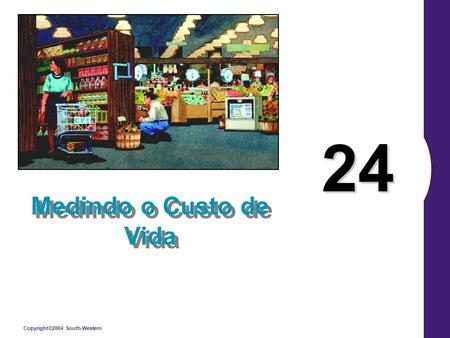Copyright©2004 South-Western 24 Medindo o Custo de Vida.