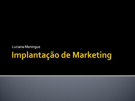Implantação de Marketing