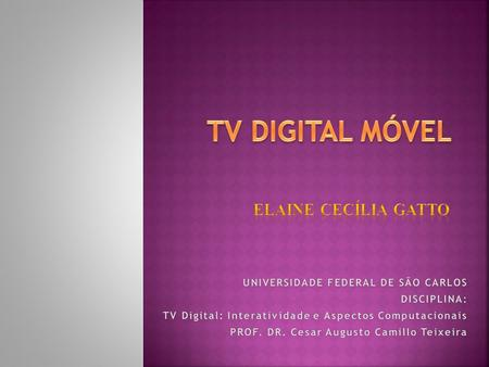 TV DIGITAL MÓVEL ELAINE CECÍLIA GATTO