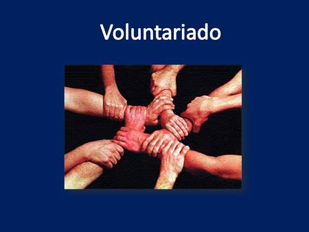 Voluntariado.