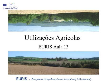Utilizações Agrícolas EURIS Aula 13 EURIS – Europeans Using Roundwood Innovatively & Sustainably.