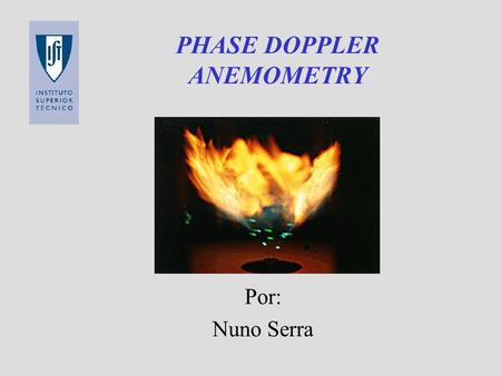 PHASE DOPPLER ANEMOMETRY