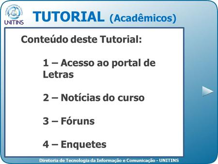 TUTORIAL (Acadêmicos)
