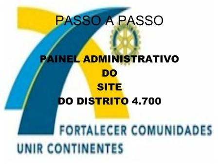 PAINEL ADMINISTRATIVO
