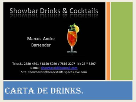 CARTA DE DRINKS..