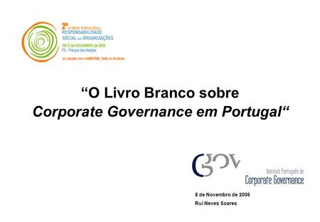 Corporate Governance em Portugal""