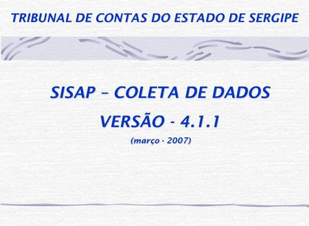 TRIBUNAL DE CONTAS DO ESTADO DE SERGIPE