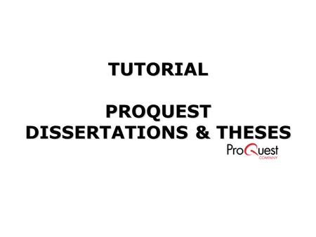 Proquest direct digital dissertations