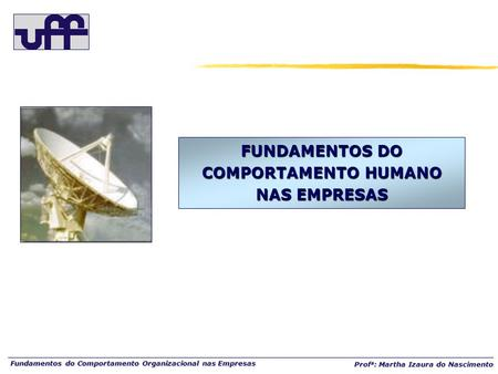 FUNDAMENTOS DO COMPORTAMENTO HUMANO NAS EMPRESAS