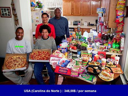 USA (Carolina do Norte ) : 346,00$ / por semana. USA (California) $159,18 / por semana.