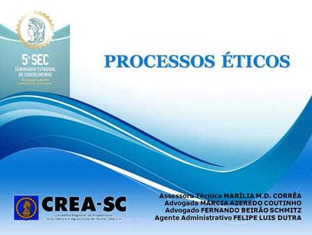 PROCESSOS ÉTICOS Free Powerpoint Templates