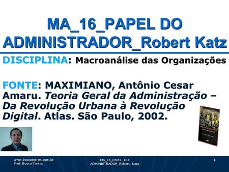 MA_16_PAPEL DO ADMINISTRADOR_Robert Katz