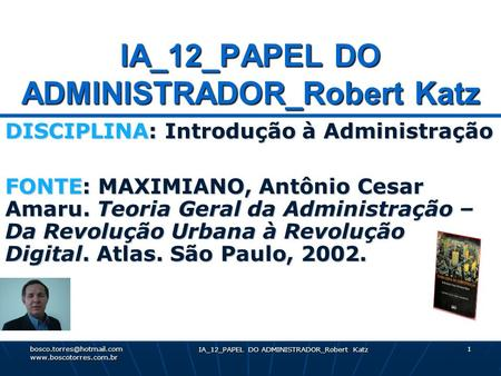 IA_12_PAPEL DO ADMINISTRADOR_Robert Katz