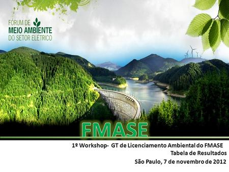 FMASE 1º Workshop- GT de Licenciamento Ambiental do FMASE