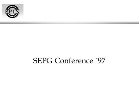 SEPG Conference ´97.