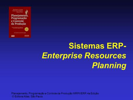 Sistemas ERP-Enterprise Resources Planning