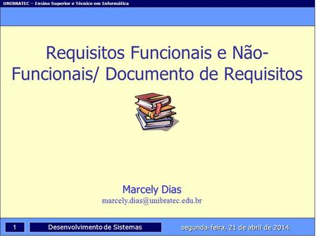 Requisitos Funcionais e Não-Funcionais/ Documento de Requisitos