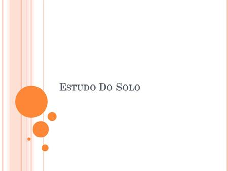 Estudo Do Solo.