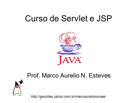 Prof. Marco Aurelio N. Esteves