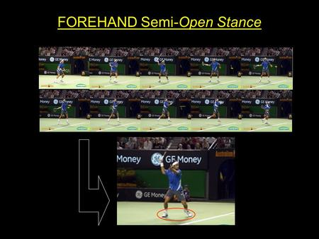 FOREHAND Semi-Open Stance