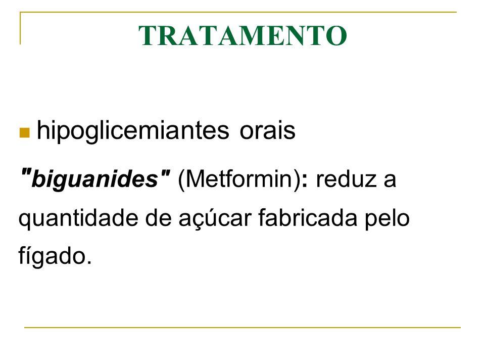 sulfonylureas (Glibencamida- Daonil; Clorpropamida- Diabinese) e Glinidas (Repaglinida e Nateglinida): estimulam o pâncreas a fabricar mais insulina.