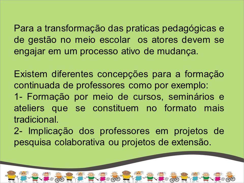 No que diz respeito a formação de professores para atender as diferenças, o primeiro formato não se mostra particularmente eficiente (Poulin e Beaupré, 2006)..