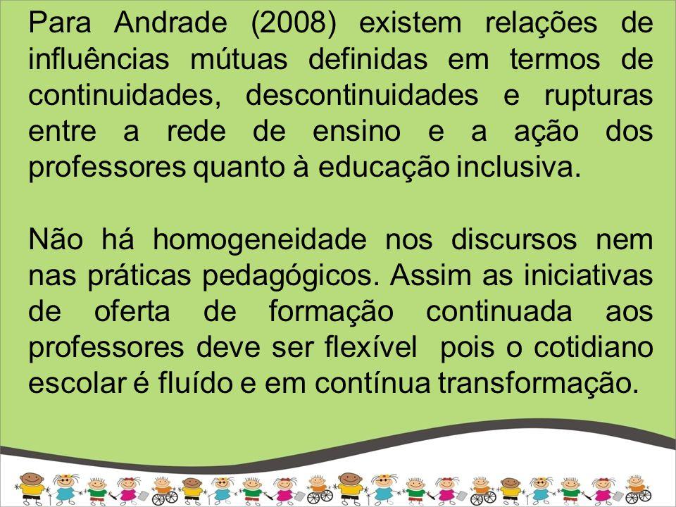 FORMAÇÃO DO PROFESSOR Formação inicial Formação continuada - Concepção de ensino que contemple as diferenças dos alunos.