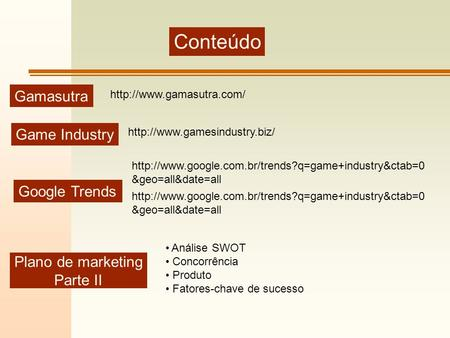 Conteúdo Gamasutra Game Industry Google Trends Plano de marketing